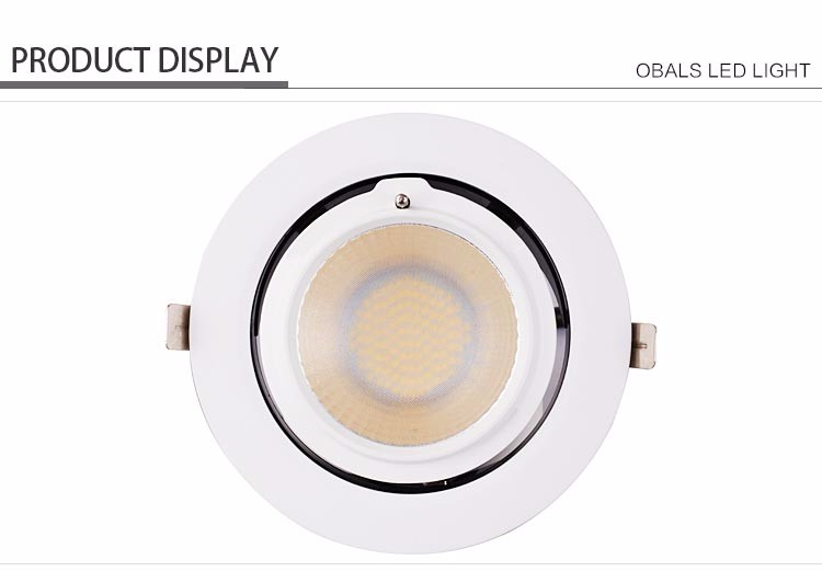 smd 8 inch round slim ceiling adjustable recessed downlight led 20w 30w 40w