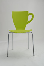 Creative design dining chair/Leisure cup dining chair/cup shaped plastic dining chair