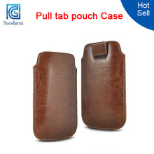 Pull Tab Leather Case Pouch for Nokia Lumia 625 Mix color