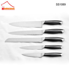 rainbow stainless steel kitchen knife set with acrylic stand, 5pcs knife set kitchen stainless steel