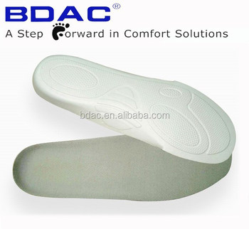 comfortable EVA foot insole with heel cup insole to reduce the size of shoes