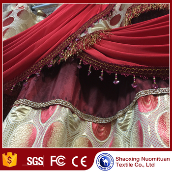 Top selling durable luxury living room curtains linen curtains