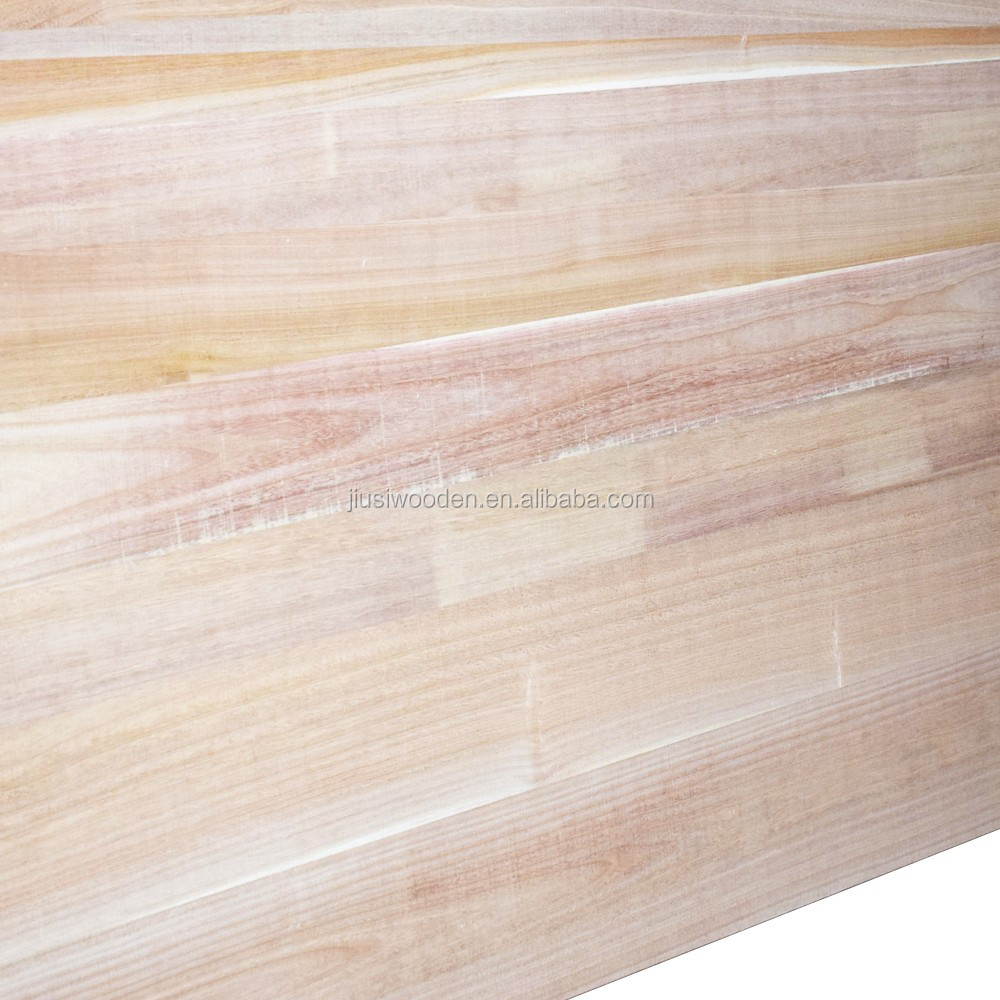 Paulownia wood finger joint board size 1220*2440mm or as requested used for construction and furniture