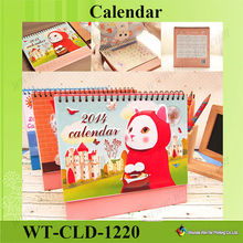 WT-CLD-1220 2015 Oem Cute Stand Up Calendar For Desk Display