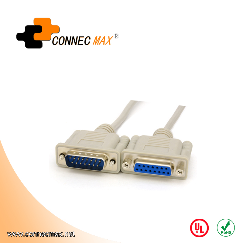 High quality computer connector db15 vga male to male nickel plated cable