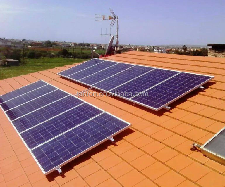 roof on grid 5kw home solar energy system kit ; solar energy storage battery 5kw 6KW ;5kw solar panel system on grid for home
