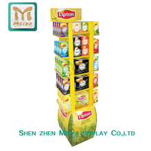 Lastest Design Corrugated Instant Coffee Cardboard Display for Merchandise