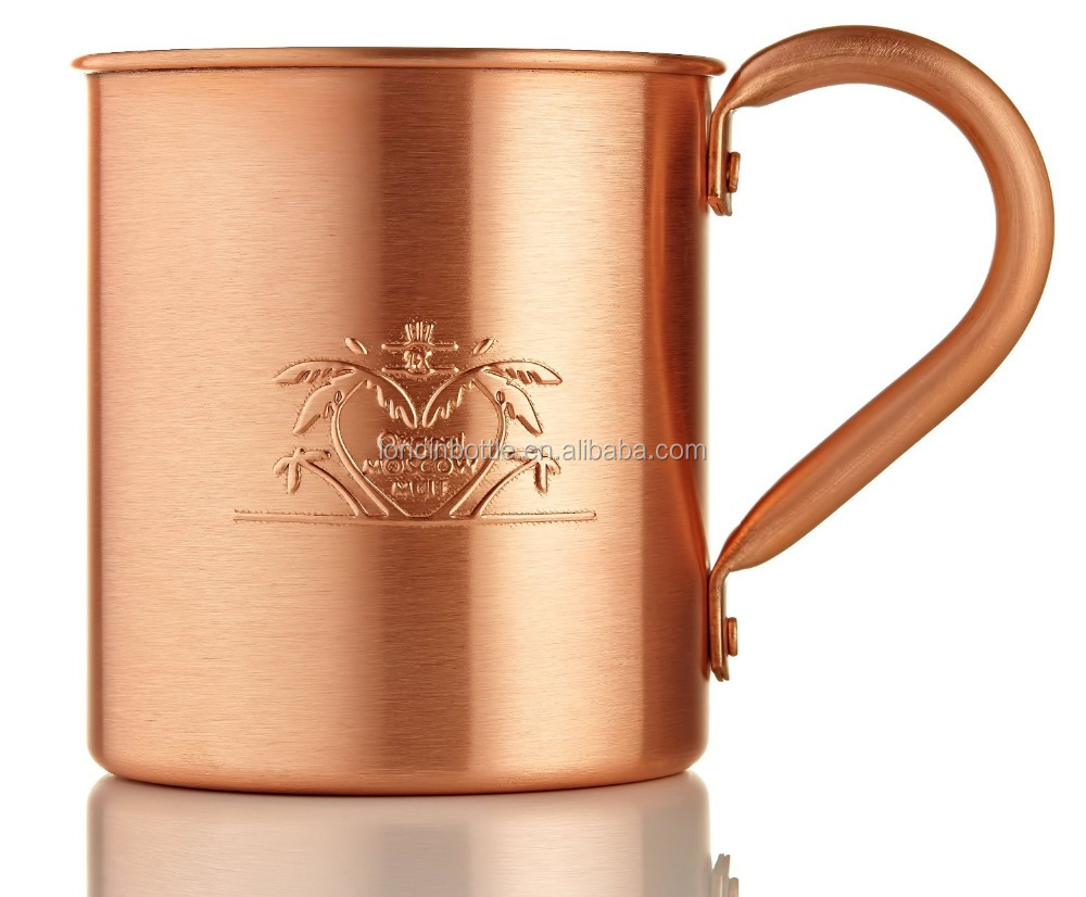2016 new 100% Pure Solid Copper Moscow Mule mugs, Unique Embossed Handcrafted pure <strong>cup</strong>,custom embossed Copper Mug