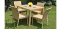 2017 Sigma UV resistant all weather pe rattan outdoor modern dining table