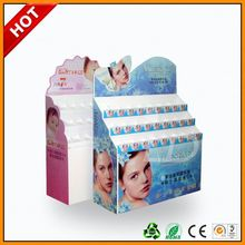 supermarket cardboard display for shampoo ,sunsilk shampoo display ,sun cream pdq counter cardboard display shelf