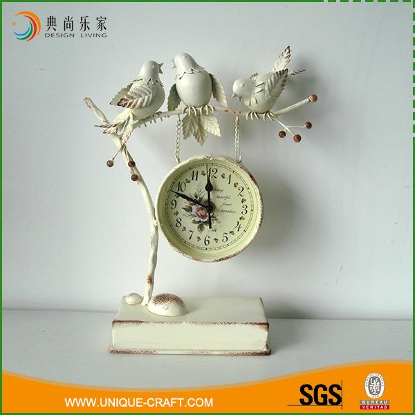 Home decor custom antique decorative Iron desk table clock