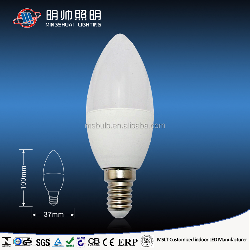 Low Cost C35 LED Candle Bulb With Flickering Candle Flame