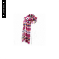 New type top sale nice-looking plaid plain pink silk scarf