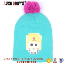 cheap winter hat for women with pom