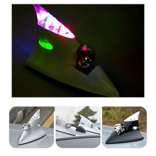2016 new Car Auto Wind Power LED Light Shark Fin Roof Antenna Flash Warning light driving running light