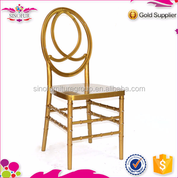 gold resin wedding hotel chair sale