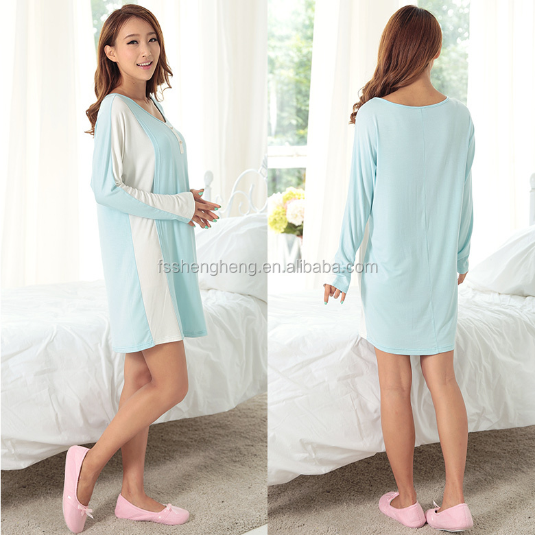 comfortable cotton fancy nighty women AK163