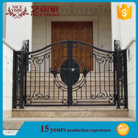OEM European metal gate fence panels,oriental iron fence,used garden retractable gate