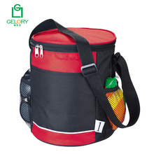 Hot sell promotion waterproof polyester cylinder style beer can cooler bag