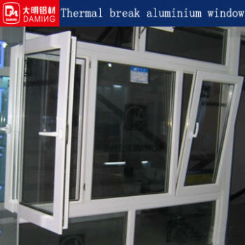 double glazed thermal break aluminium window section buy