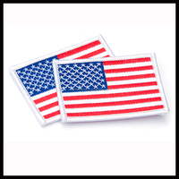 american flag patch country flag badges with merrow border