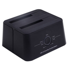 USB 3.0 type-C smart docking station, supports dual HDD transfer high speed data storage