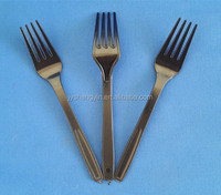 mainland hard ps material black colour Plastic fork