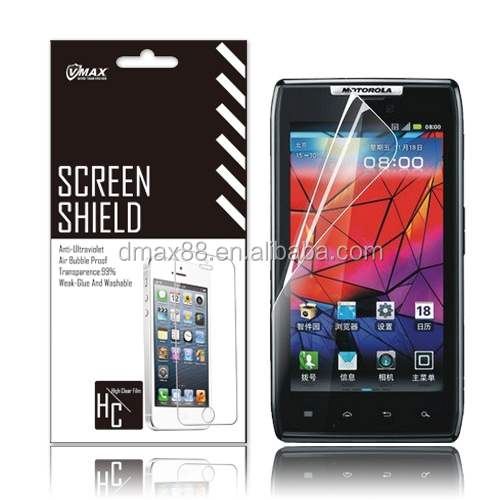 Wholesale !shock resistant high quality diamond mobile screen guard for Motorola Moto G