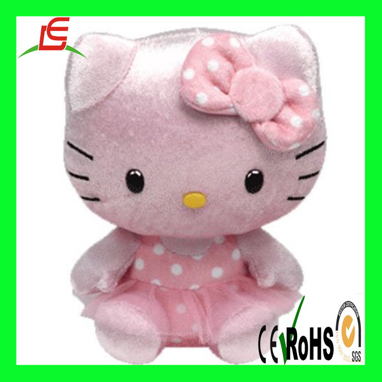 Cute 25cm pink plush hello kitty for lover