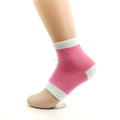 Open Toe Moisturizing Heel Spa Cotton Silicon Gel Heel Socks For for Dry Hard Cracked Heel Recovery