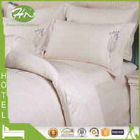 5 Star Hotel Satin Stripes Design Machine Embroidery Bedding Set
