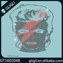GLI GLI wholesale customizable shirts head portrait rhinestone transfer motif for crystal rhinestone international
