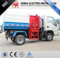 XDEM 3m3 garbage truck, 2 ton Foton Chassis garbage container side lift junk trucks