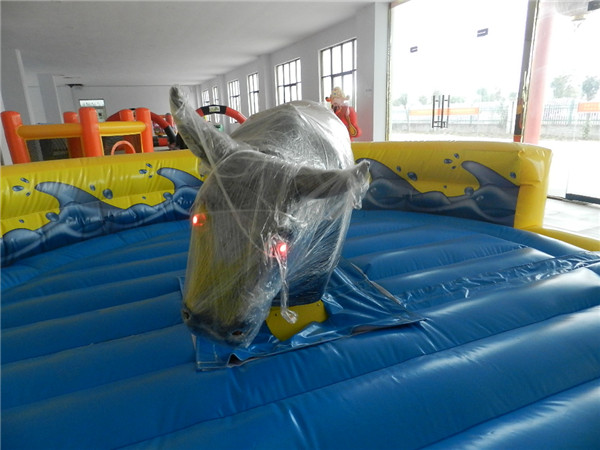 Exciting and hot sale inflatable bull ring ride mechanical bull riding for sale