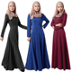 A3308 Ladies girls plain cotton abaya jilbab kaftan kurti baju muslim abayas