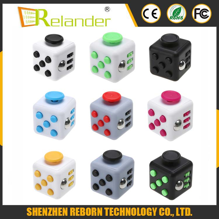 Hot Sale 2016 High Quality Magic Cube Material, ABS Size 3.3*3.32 Fidget Cube Toys For Boys Girl Best Christmas Gift
