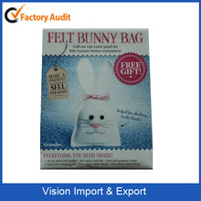 2015 craft our cute Easter pouch for little treasure hunters felt bunny bag