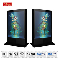 55 inch Information Interactive LCD outdoor digital advertising kiosk / large advertising lcd screen