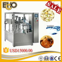 china multi function counting rotary Special Shaped Pouch olive filling and sealing Tray Pack Machine