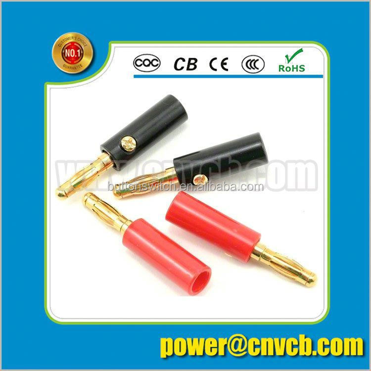 New product brass connector 2mm 3mm 4mm 5.5mm 6mm 8mm banana plug