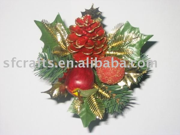 christmas artificial plastic flower pick