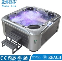 Monalisa SPA factory attend Frankfurt Fair 14-18 March /2.3 meter Hotel Oudoor spa bathtub 6 person family use whirlpool hot tub