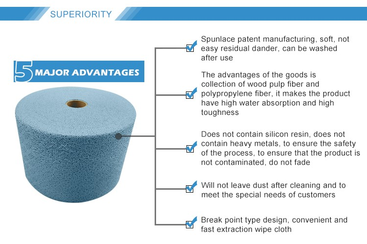 HV70 good absorbant ability easy to wash hand wipe