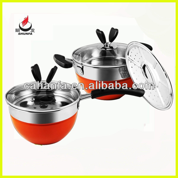 China popular 4pcs butterfly stainless steel induction cookware, kinox cookware