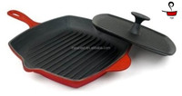 cast iron handle skillet set round&square skillet grill