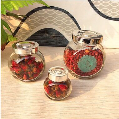 Wholesale New design star shape glass candy jar cookie jar with lid in china
