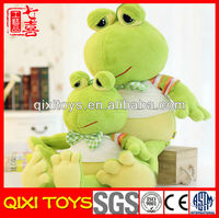 Stuffed blue or green big frog plush toy