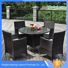 Multi-purpose Promotional cane dining table chair set