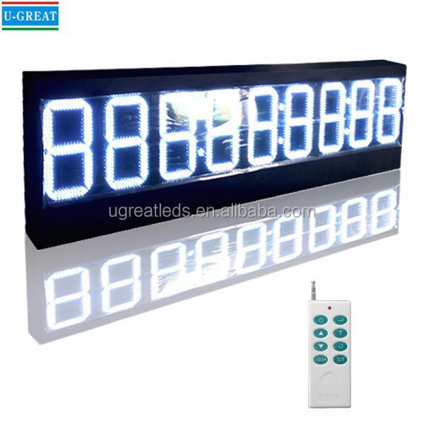 6 digit 7 segment digital led clock display
