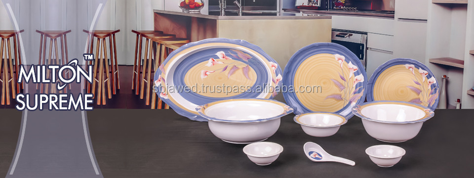 Supreme round shape melamine dinner set